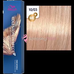 Wella Koleston Perfect ME+ 10/03 - Legvilágosabb Természetes Aranyló Szőke 60 ml