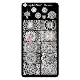Egyedi Crystal Nails Körömnyomda lemez - Mandala