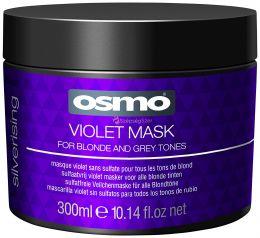 Osmo Silverising Violet intenzív, színvédő hajpakolás melírozott, szőke, ősz hajra - 300 ml