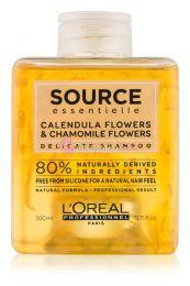 L'oreal Source Essentielle Calendula & Camilla Flowers Érzékeny fejbőrre  Sampon 300ml