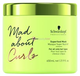 Schwarzkopf Mad About Curls Superfood Hajpakoló 650ml