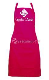 Crystal Nails lonc kötény - fehér logóval