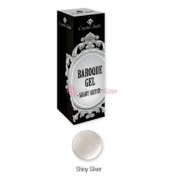 Baroque Gel díszítő zselé - Shiny Silver (5ml)