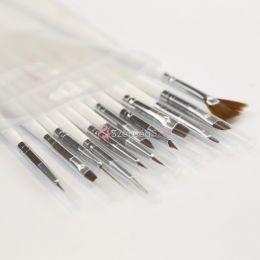 Crystal Nails Big Brush Set - 12 darabos Nail Art ecset készlet