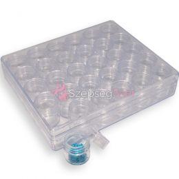 Clear tégely box 30db-os