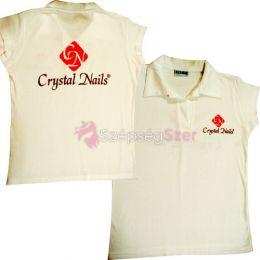 Crystal Nails póló fehér XL
