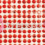 Crystal Sticker dekor fólia - Cseresznye piros 6x10cm