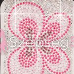 Crystal Sticker dekor fólia - Pillangós 6x10cm